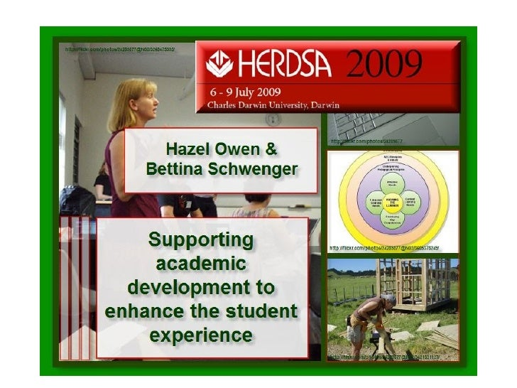 Supporting Academic Development To Enhance The
