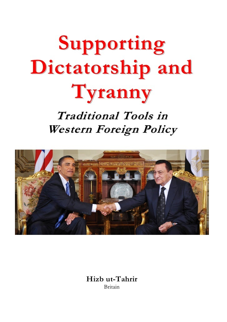 Supporting Dictatorship and     Tyranny   Traditional Tools in  Western Foreign Policy            Hizb ut-Tahrir          ...