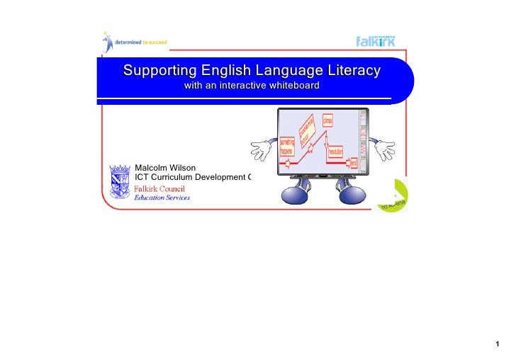 Supporting English Language Literacy With A Smart Board