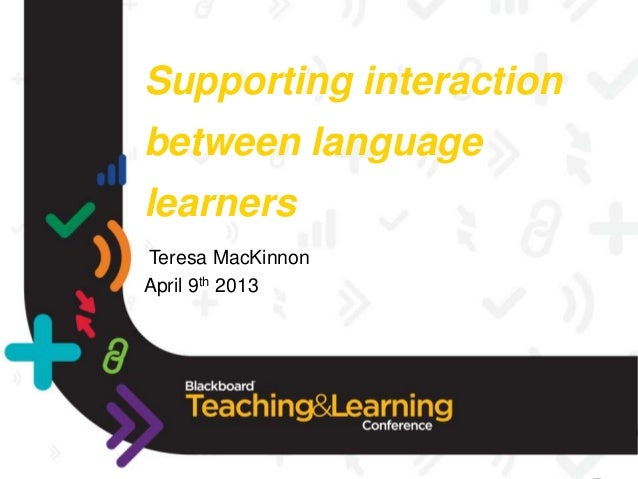 Supporting interaction bbtlc13