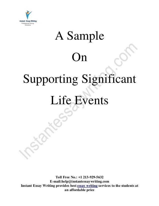 Significant event essay