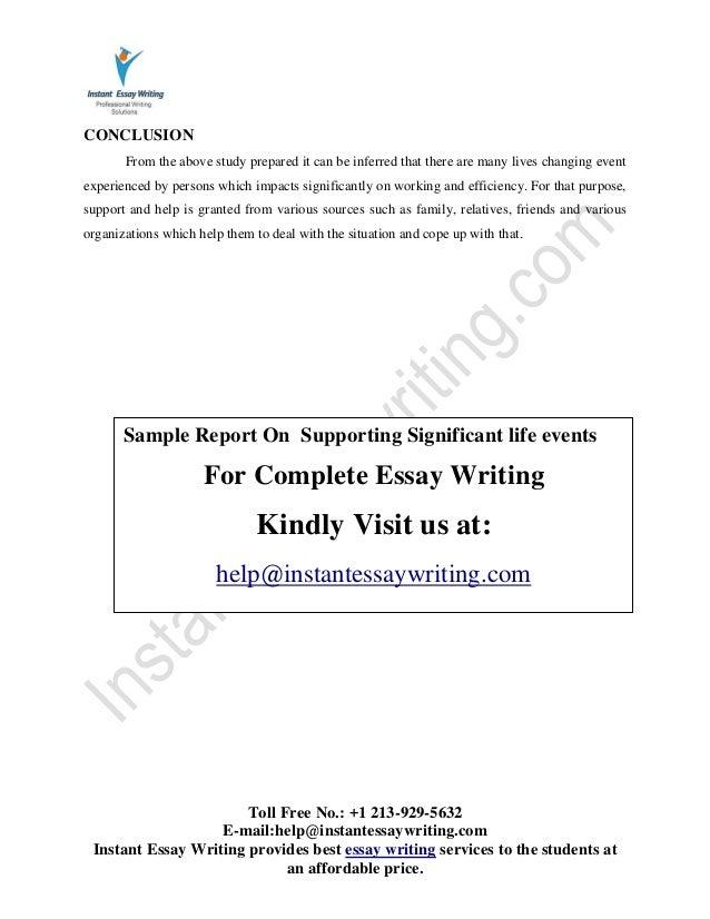 Impact of Significant Life Events - UK Essays - UKEssays