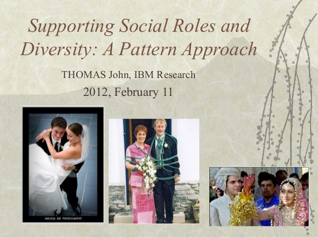 Supporting Social Roles andDiversity: A Pattern ApproachTHOMAS John, IBM Research2012, February 11