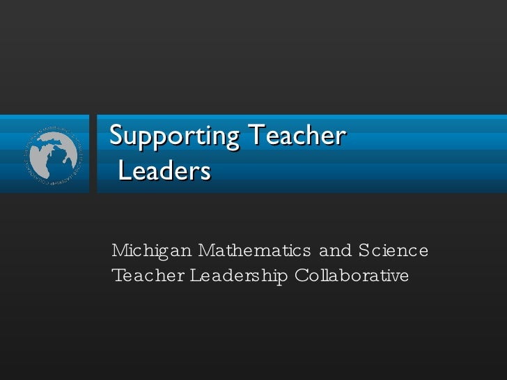 Supporting Teacher Leadership Oct09
