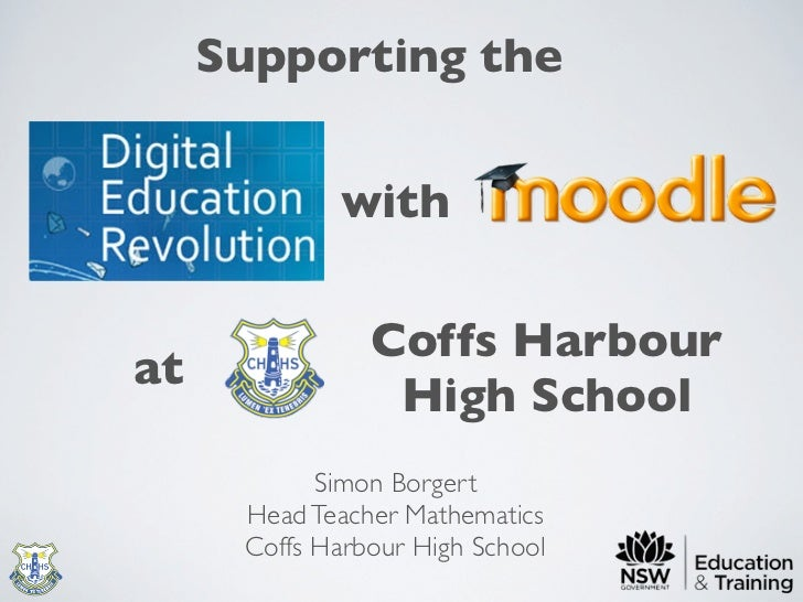 Supporting the DER with Moodle