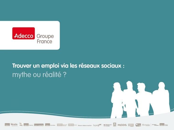recherche d'emploi et réseaux sociaux: mythe ou réalité ?