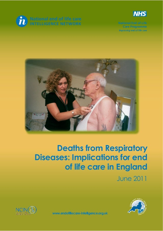 Deaths from Respiratory Diseases: Implications for end of life care in England