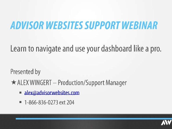 Support Webinar