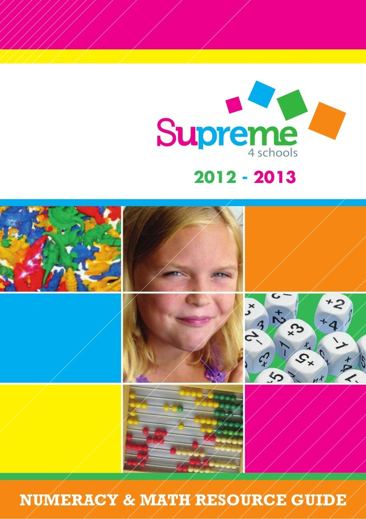 2012 - 2013NUMERACY & MATH RESOURCE GUIDE