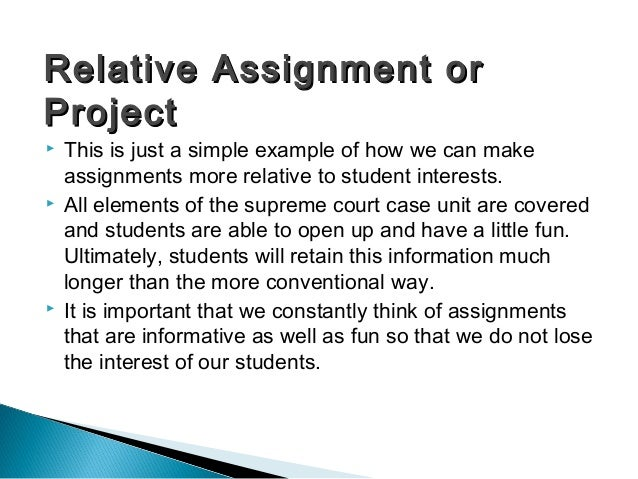  This is just a simple example of how we can make assignments more relative to student interests.  All elements of the s...