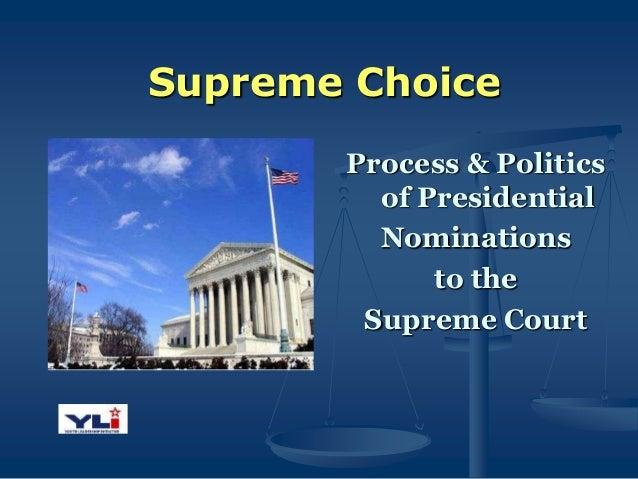 Supreme court nomination process