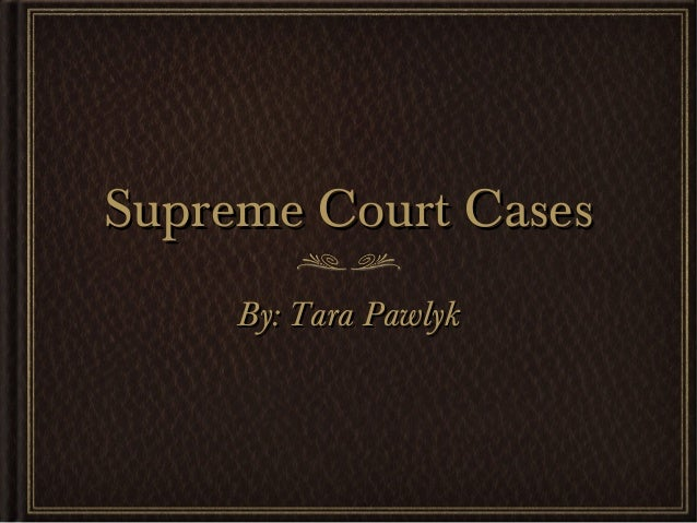 Supreme court project