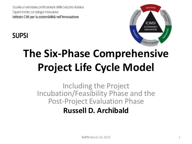 The six phase comprehensive project life cycle model-2013