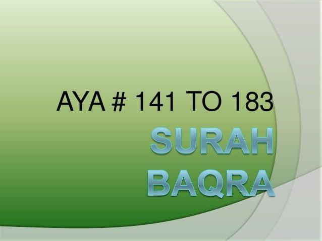 AYA # 141 TO 183