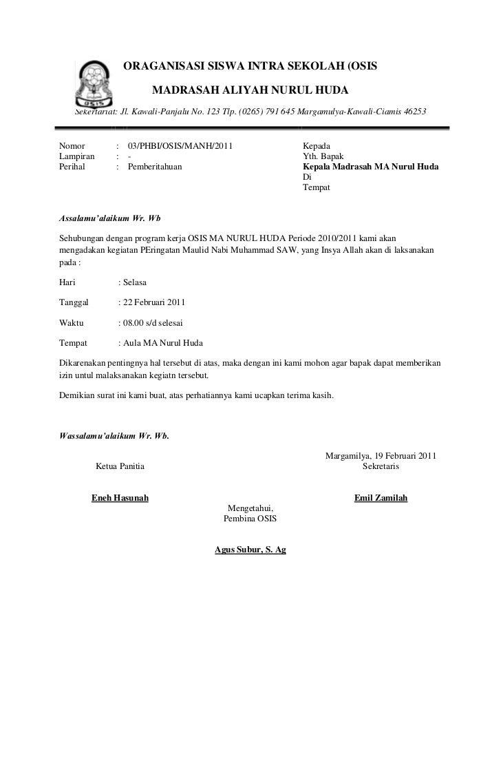 Surat Undangan Peringatan Maulid Nabi Bahasa Sunda Gapura P