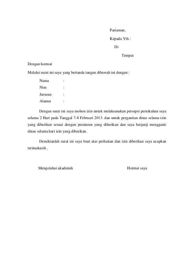Contoh Surat Izin Contoh Raffa