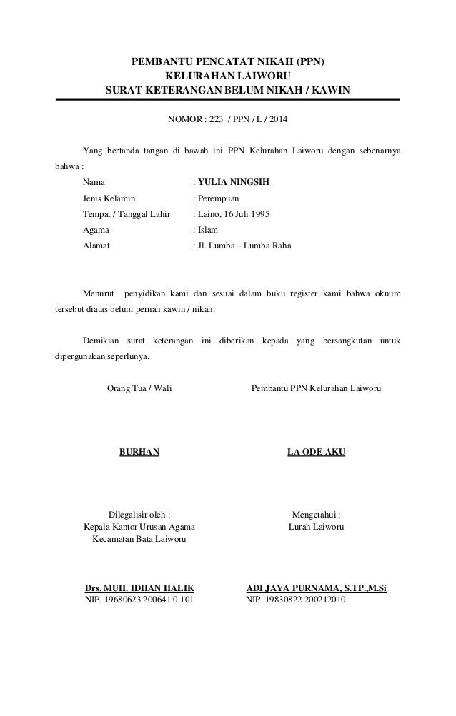 Contoh Surat Dispensasi Nikah Camat Surat 35