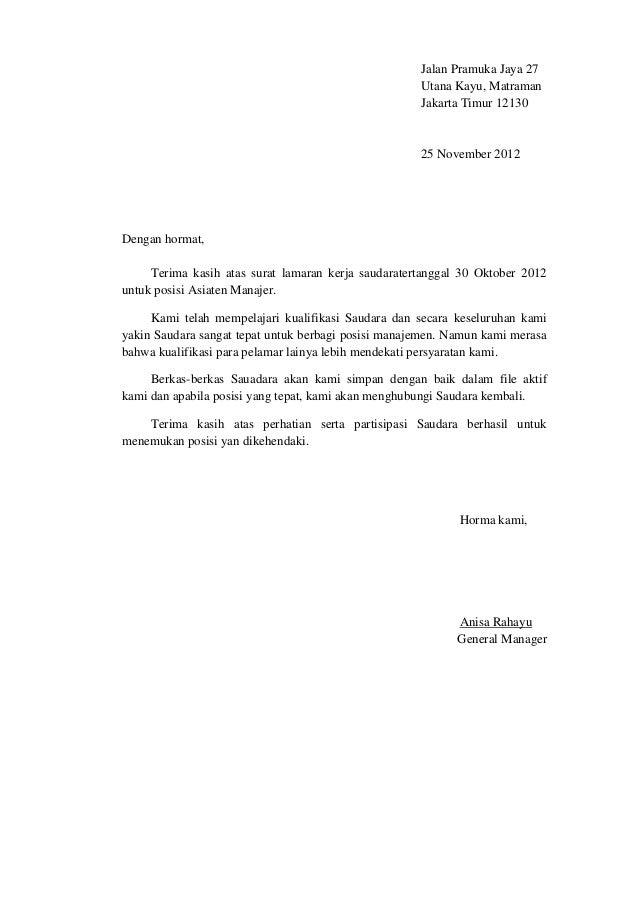 Email Penolakan Kandidat