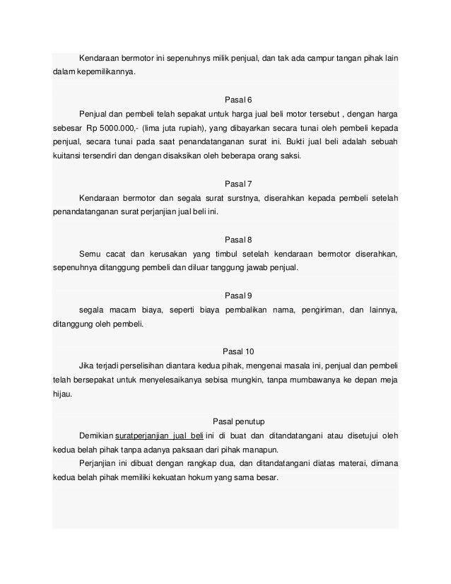 Contoh Surat Gadai Mobil Tanpa Bpkb Surat 31