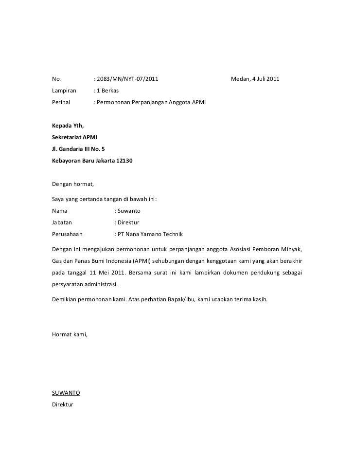 No. : 2083/MN/NYT-07/2011 Medan, 4 Juli 2011Lampiran : 1 BerkasPerihal
