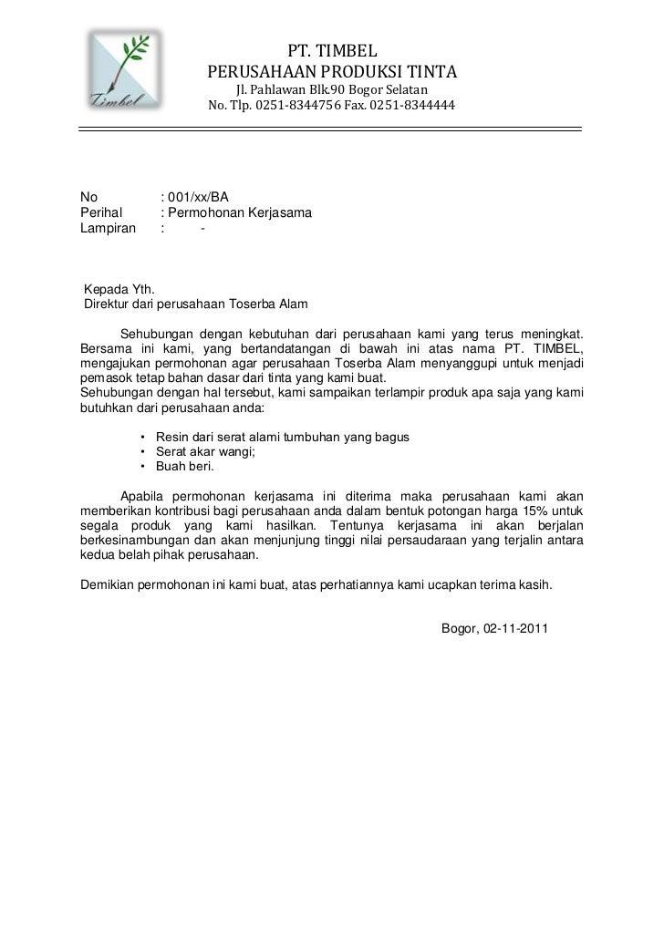Surat Permohonan Dan Permintaan