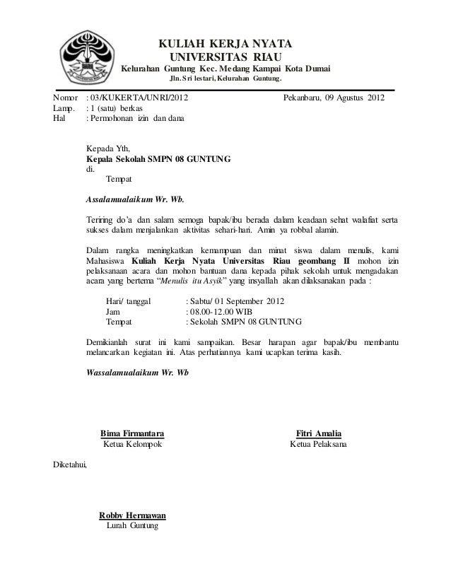surat permohonan pelatihan menulis
