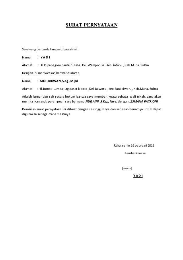 Contoh Surat Dispensasi Nikah Dibawah Umur Surat 16
