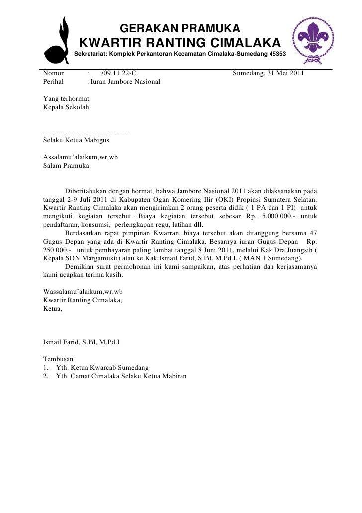 52 Download Surat Mandat Kegiatan Pramuka Pdf Doc 2019