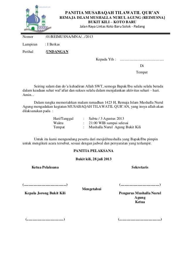 Contoh Undangan Pemberitahuan Ziarah Wali