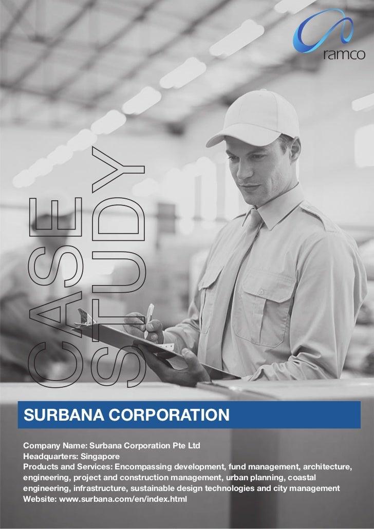 Case Study by Ramco - Surbana Corporation
