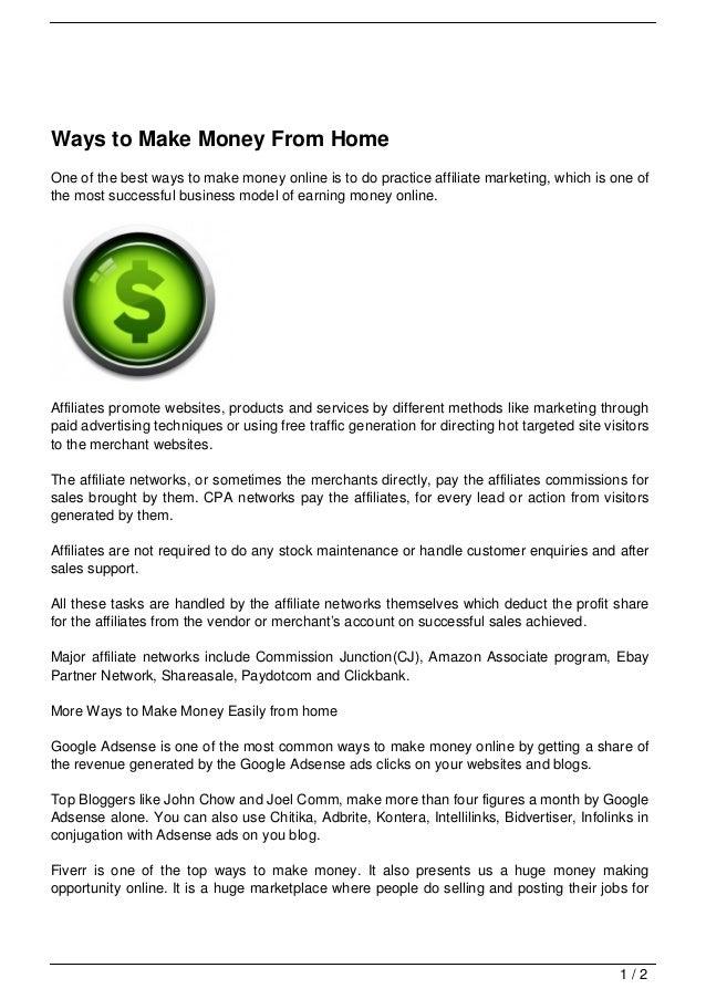 make money from home app
