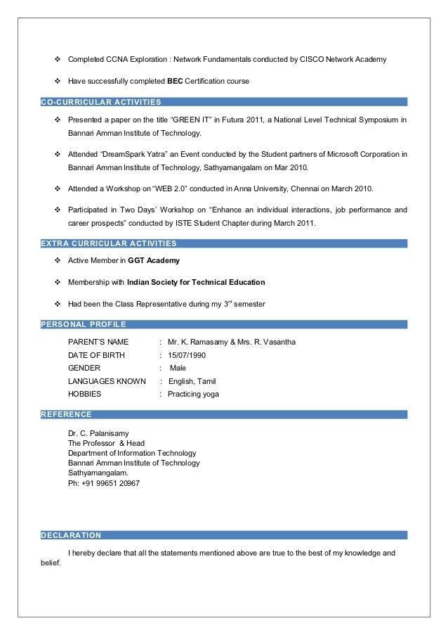 ccna sle resume ccna resume for freshers suresh resume