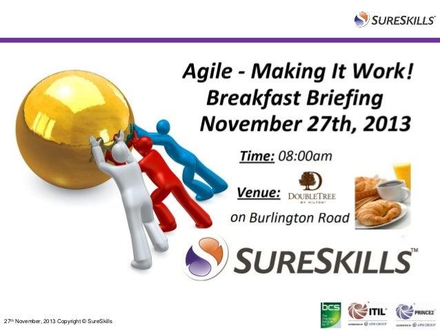 Agile Event Presentation - Nov 27th 2013