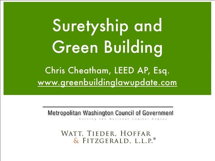 Suretyship and Green Building