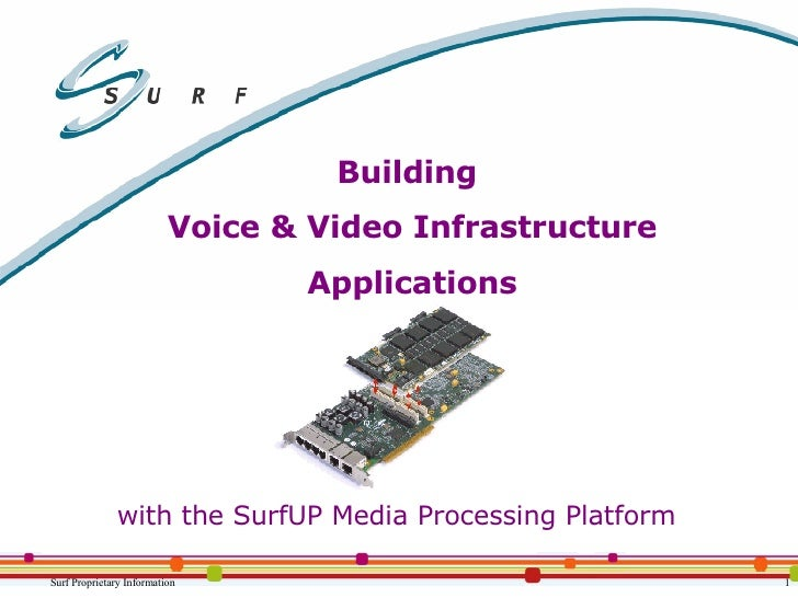 Building  Voice & Video Infrastructure Applications with the SurfUP Media Processing Platform