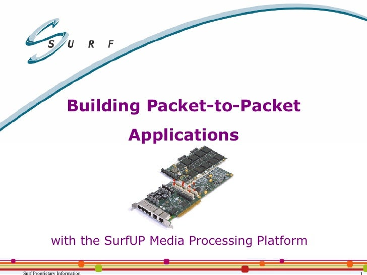 Building Packet-to-Packet Applications with the SurfUP Media Processing Platform