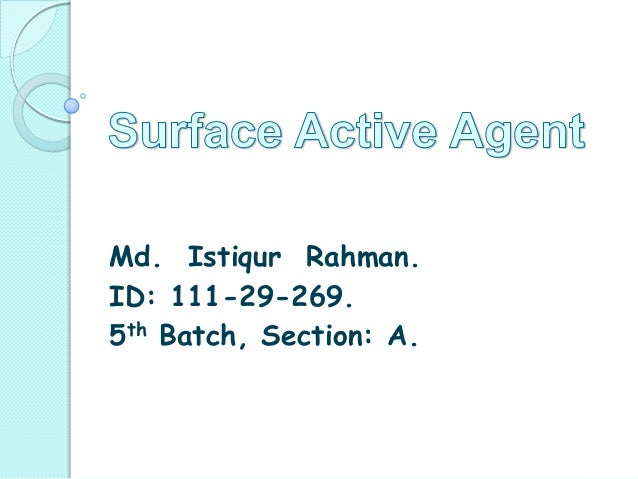 Surface active agent by 269