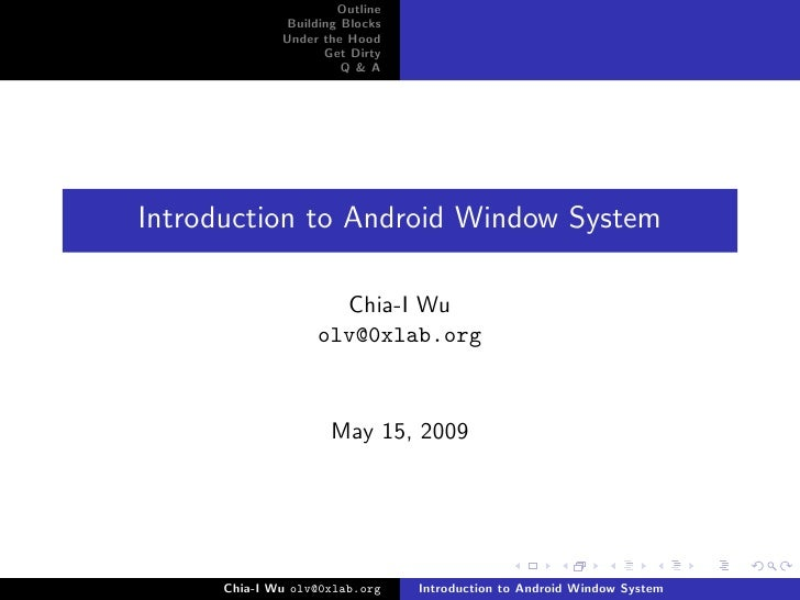Introduction to Android Window System