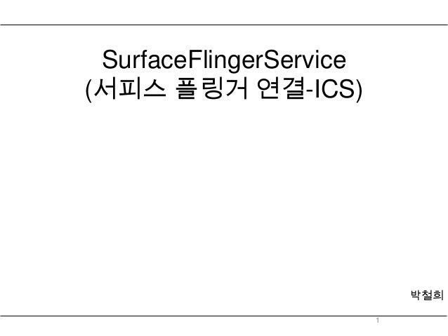 SurfaceFlingerService(서피스 플링거 연결-ICS)                             박철희                         1