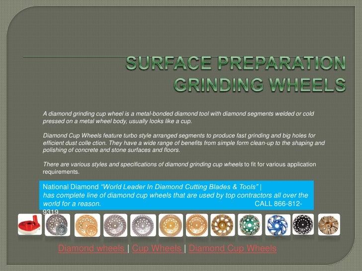 Surface Preparation grinding wheels