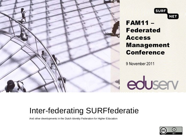 Inter-federating SURFfederatie <ul><li>And other developments in the Dutch Identity Federation for Higher Education </li><...