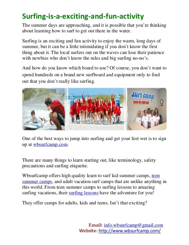 Surfing-is-a-exciting-and-fun-activityThe summer days are approaching, and it is possible that you're thinkingabout learni...
