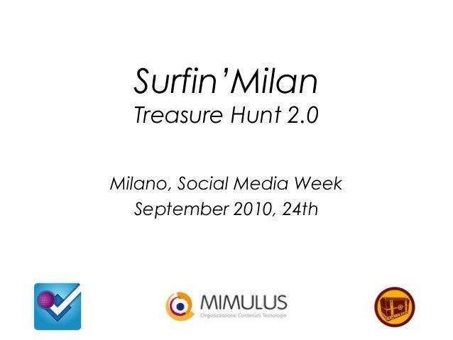 Surfin'Milan Treasure Hunt 2.0 Milano, Social Media Week September 2010, 24th