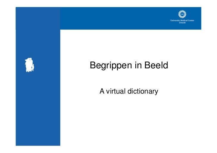 Begrippen in Beeld    A virtual dictionary
