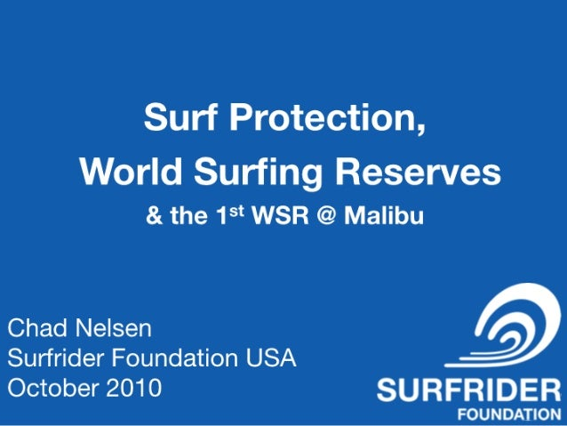 Surf protection, World Surf Reserves & Case Studies