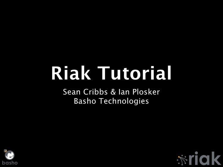 Riak Training Session — Surge 2011