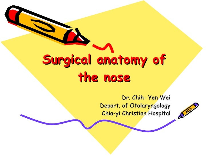 Surgical anatomy of the nose Dr. Chih- Yen Wei Depart. of Otolaryngology Chia-yi Christian Hospital