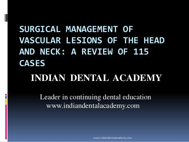 Surgical management of /certified fixed orthodontic courses by Indian dental academy