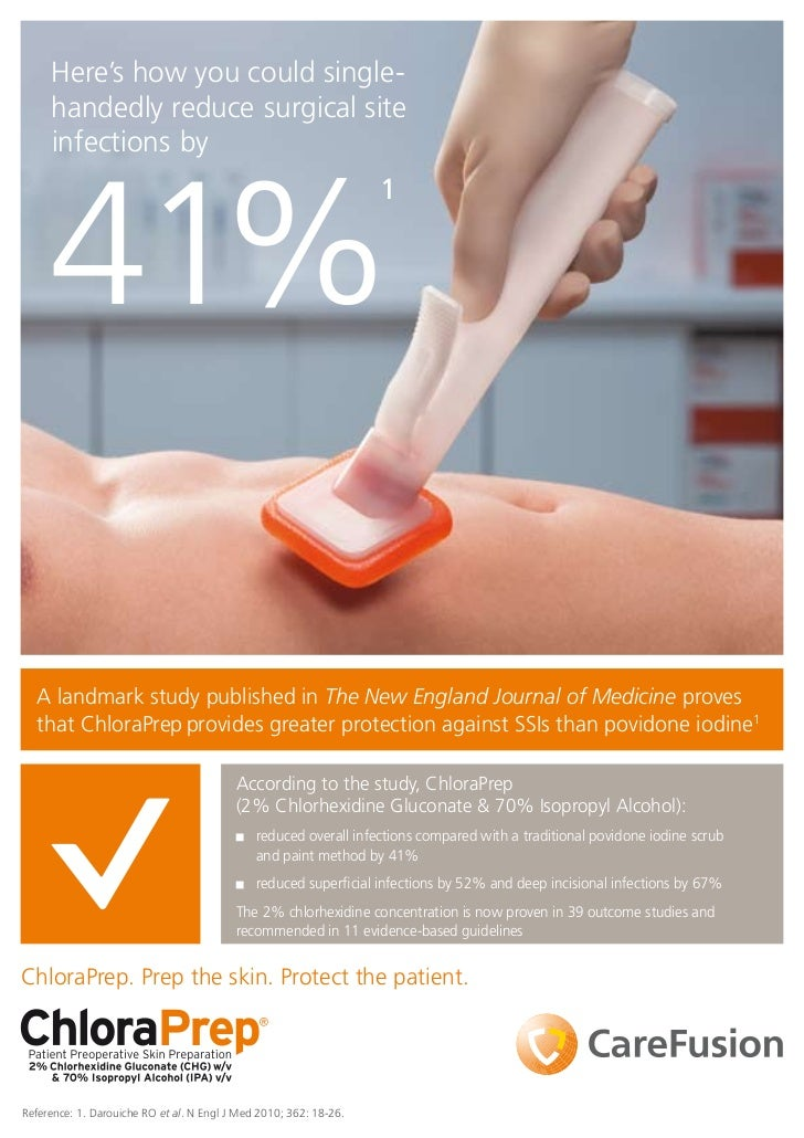 Here's how you could single-     handedly reduce surgical site     infections by     41%                                  ...