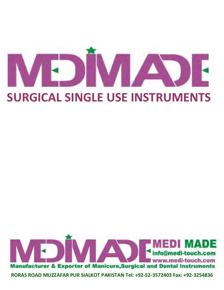 Surgicals Instruments And Use Surgical Single Use